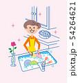 皿洗い 主婦 イラスト 54264621