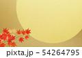 背景-和-和風-和柄-金箔-月-紅葉 54264795