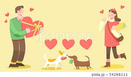 Spring is season of love, vector design concept for loving 001 54268111