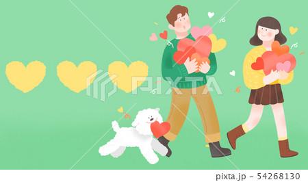 Spring is season of love, vector design concept for loving 002 54268130