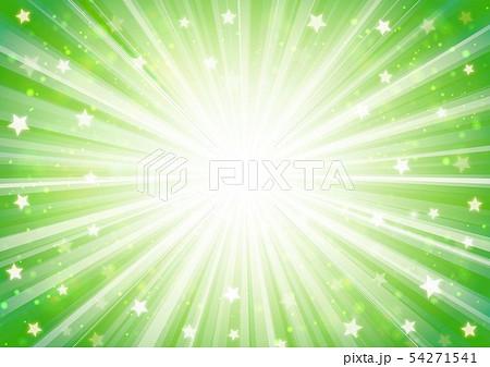 緑色星キラキラ放射線イメージ 54271541