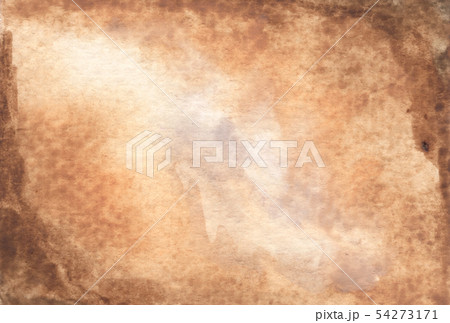 Brown abstract watercolor texture background. 54273171