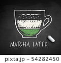 Vector chalk drawn sketch of Matcha Latte 54282450