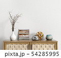 Sideboard with interior decoration 3d rendering 54285995