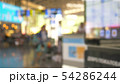 blurred background. people at the airport, passenger flight concept 54286244