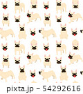 French bulldog in action,seamless pattern 54292616