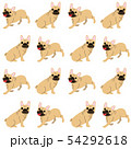 French bulldog in action,seamless pattern 54292618