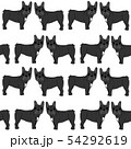 French bulldog in action,seamless pattern 54292619