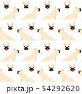 French bulldog in action,seamless pattern 54292620