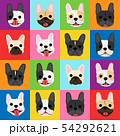 French bulldog faces background pop art style 54292621