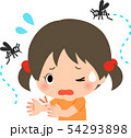 蚊にたかられて困っている女の子 54293898
