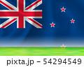 ニュージーランド  国旗 グランド 背景  54294549