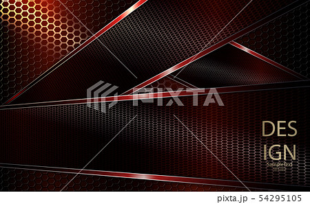 Abstract red background with textural frames with shiny edging 54295105