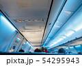 interior of the passenger airplane, shallow DOF 54295943