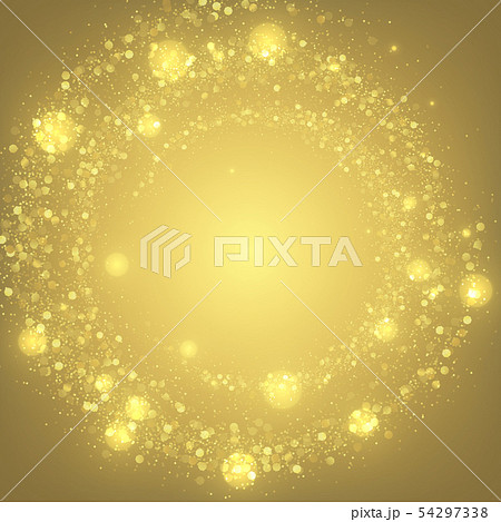 Magic golden lights festive background 54297338
