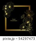 Decorative floral frame design 54297473