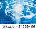 Massage and spa swimming pool with bubbles blue 54299466