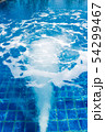 Massage and spa swimming pool with bubbles blue 54299467