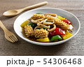 stir fried squid with black and sweet pepper 54306468