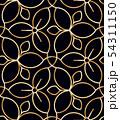 Golden wire seamless flower pattern 54311150