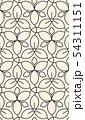 Linear seamless flower pattern 54311151