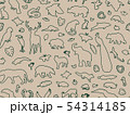Animal shaped outline seamless pattern 54314185