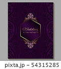 Wedding invitation card with gold shiny eastern 54315285