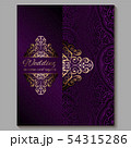 Wedding invitation card with gold shiny eastern 54315286