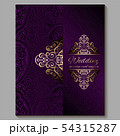 Wedding invitation card with gold shiny eastern 54315287
