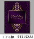 Wedding invitation card with gold shiny eastern 54315288