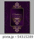 Wedding invitation card with gold shiny eastern 54315289