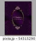 Wedding invitation card with gold shiny eastern 54315290