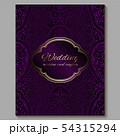 Wedding invitation card with gold shiny eastern 54315294