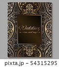 Wedding invitation card with gold shiny eastern 54315295