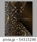Wedding invitation card with gold shiny eastern 54315296