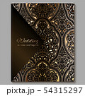 Wedding invitation card with gold shiny eastern 54315297