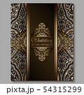 Wedding invitation card with gold shiny eastern 54315299