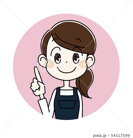 エプロンを着た若い女性 54317599