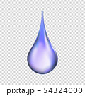 Water drop isolated . Vector illustration 54324000
