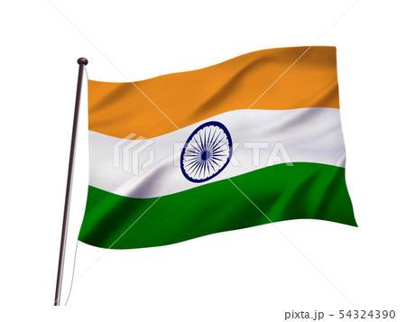 インドの国旗イメージ 54324390