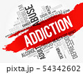 Addiction word cloud collage 54342602