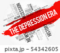 The Depression Era word cloud collage 54342605