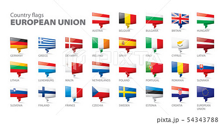 flags of the european union. Vector illustration. 54343788