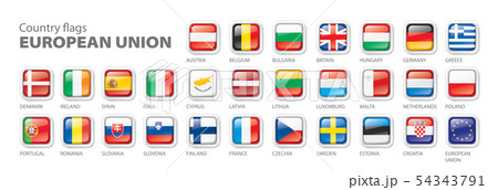 flags of the european union. Vector illustration. 54343791