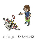 輪投げをする女の子 54344142