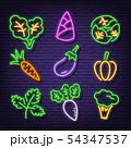 vegetable neon icons 54347537
