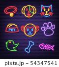 pet neon icons 54347541