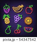 fruit neon icons 54347542