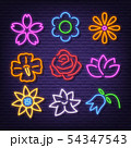flower neon icons 54347543