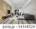modern dining room and living room luxury decor 54348320